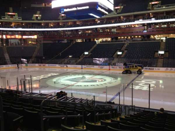 Nationwide Arena, section: 102, row: Q, seat: 17