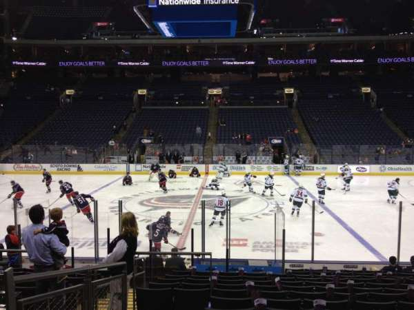 Nationwide Arena, section: 114, row: P, seat: 17