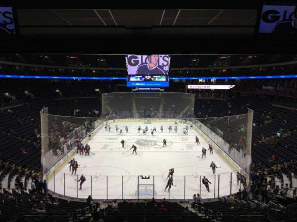 Nationwide Arena, section: 120, row: MM, seat: 13
