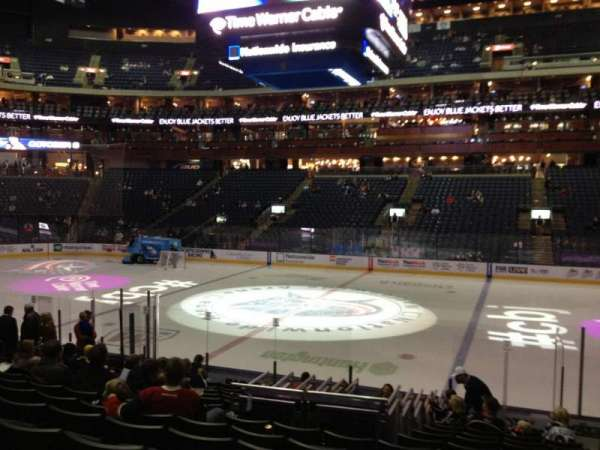 Nationwide Arena, section: 103, row: Q, seat: 2