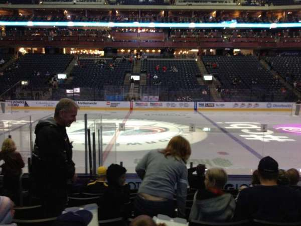 Nationwide Arena, section: 103, row: K, seat: 17