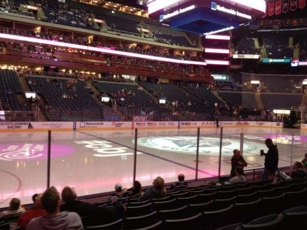 Nationwide Arena, section: 105, row: J, seat: 15