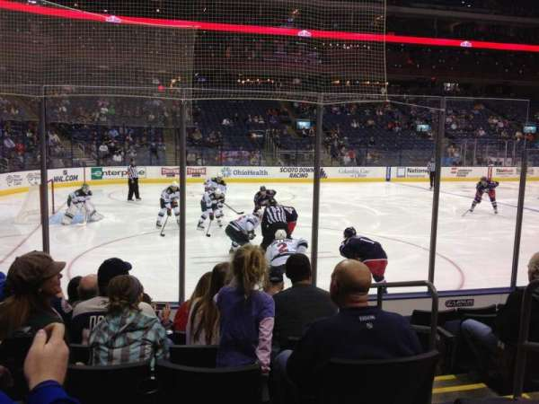 Nationwide Arena, section: 106, row: G, seat: 4