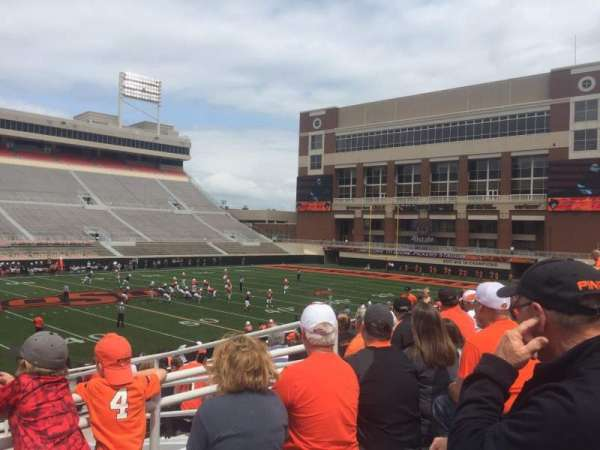 Boone Pickens Stadium, section: 208, row: 12, seat: 1