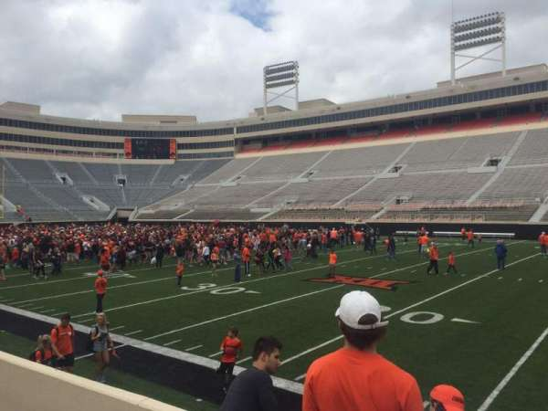 Boone Pickens Stadium, section: 103, row: 4, seat: 25