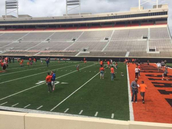 Boone Pickens Stadium, section: 102, row: 5, seat: 1