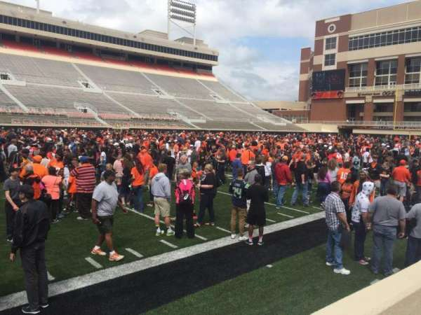 Boone Pickens Stadium, section: 108, row: 1, seat: 22