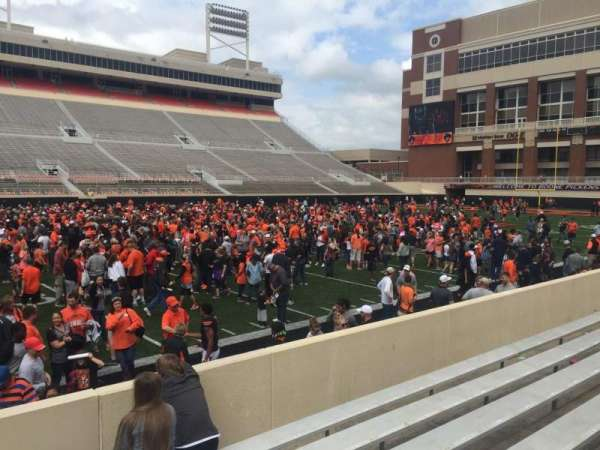 Boone Pickens Stadium, section: 108, row: 8, seat: 1