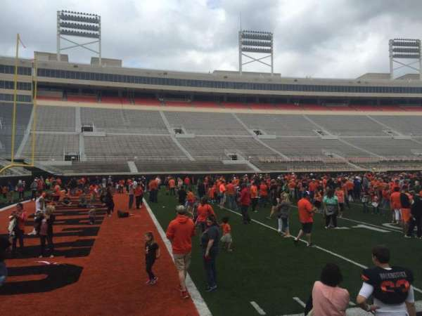 Boone Pickens Stadium, section: 108, row: 1, seat: 1