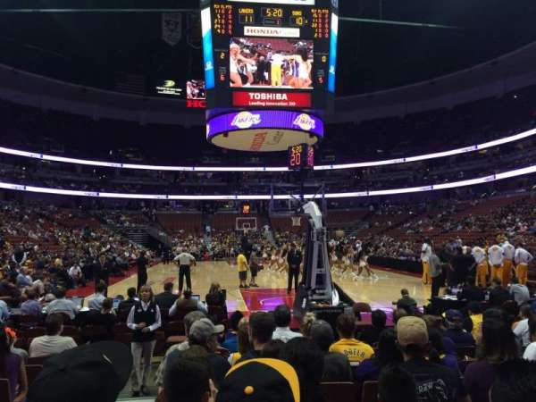 Honda Center, section: 215, row: JJ, seat: 14