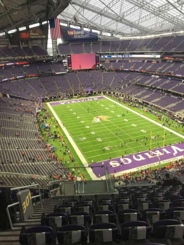 U.S. Bank Stadium, section: 301, row: 11, seat: 13