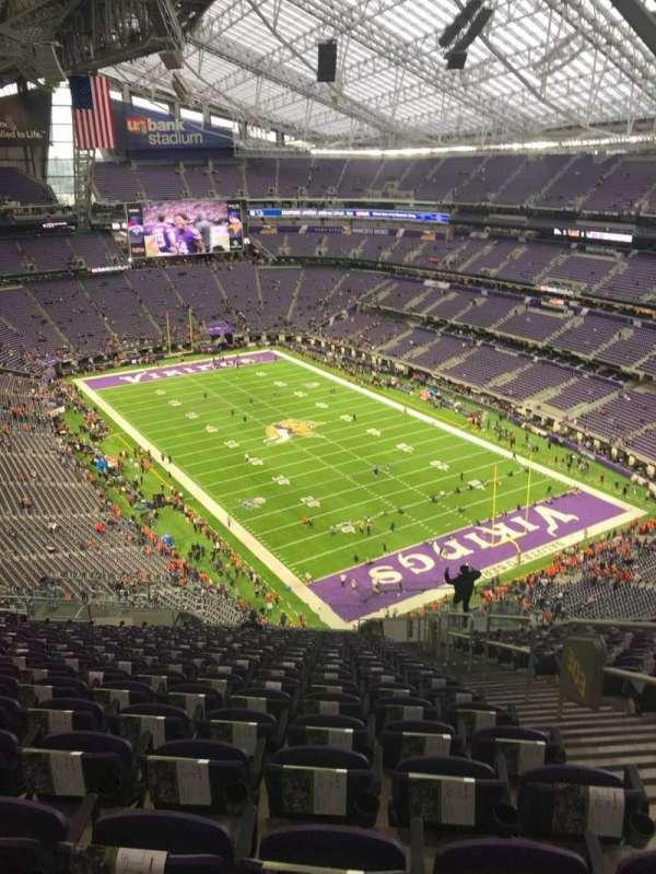 U.S. Bank Stadium, section: 303, row: 20, seat: 2