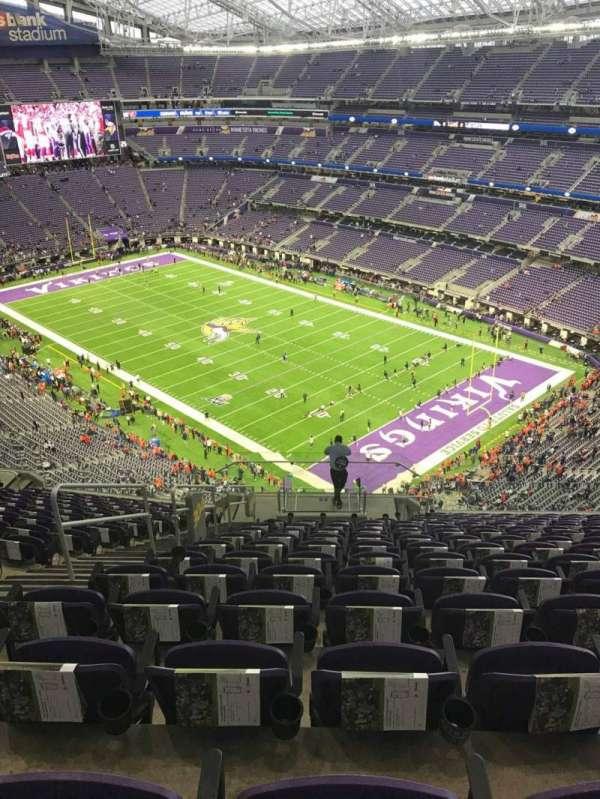 U.S. Bank Stadium, section: 304, row: 15, seat: 17
