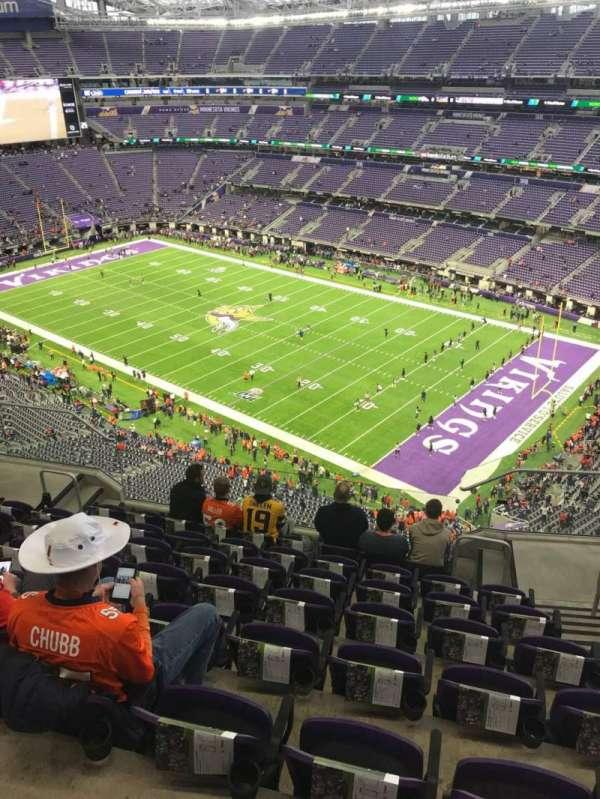 U.S. Bank Stadium, section: 306, row: 8, seat: 3