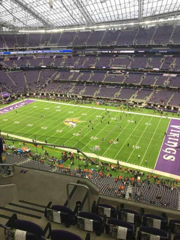 U.S. Bank Stadium, section: 308, row: 5, seat: 18