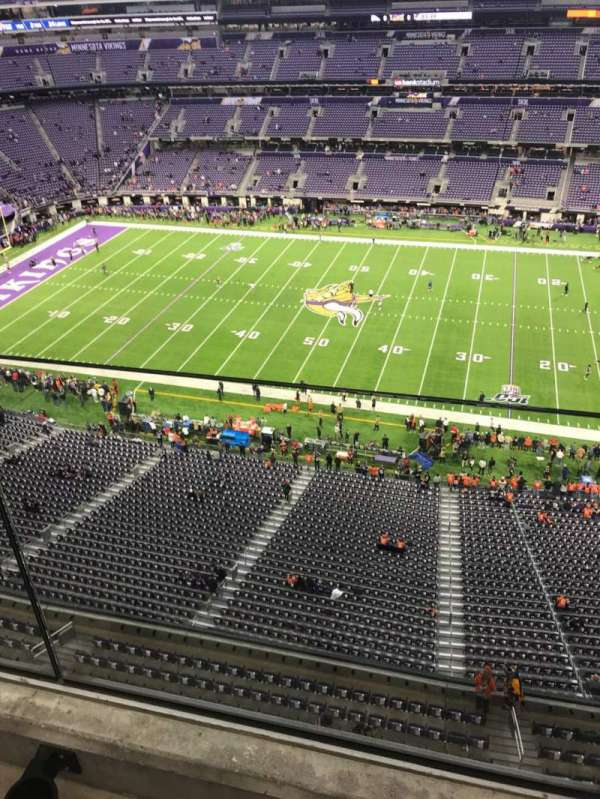 U.S. Bank Stadium , section: 311, row: 1, seat: 1