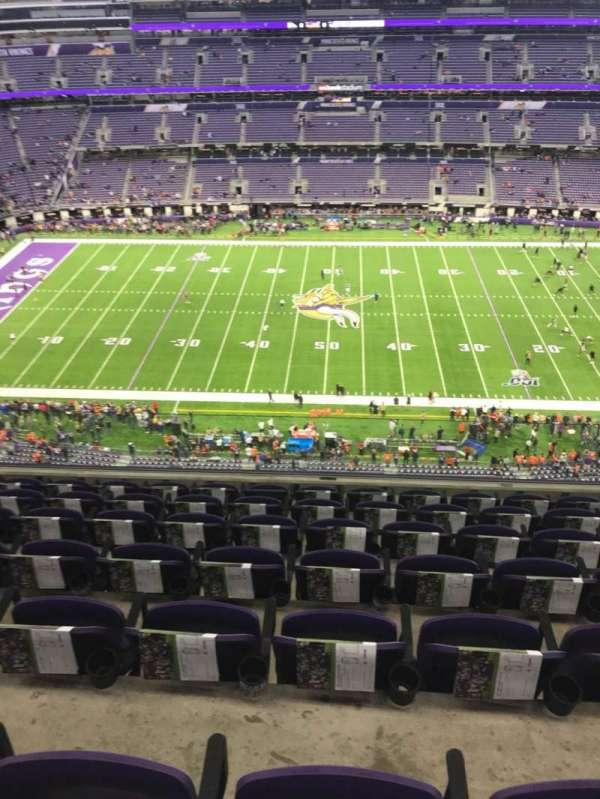 U.S. Bank Stadium, section: 312, row: 7, seat: 10