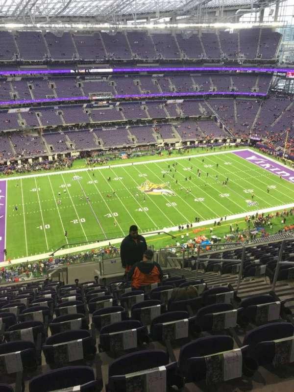 U.S. Bank Stadium, section: 315, row: 12, seat: 5