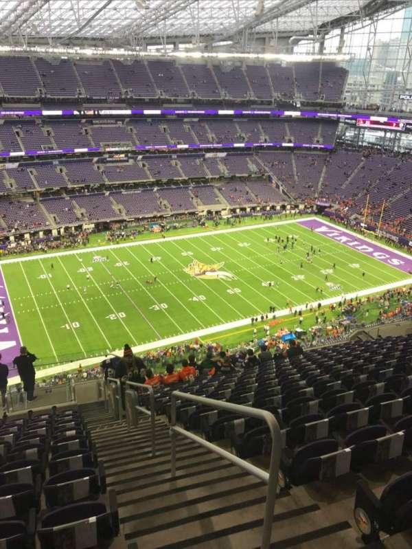 U.S. Bank Stadium, section: 316, row: 15, seat: 1