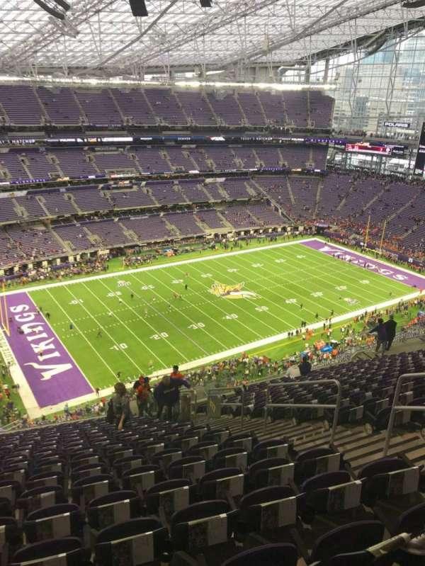 U.S. Bank Stadium, section: 317, row: 18, seat: 6