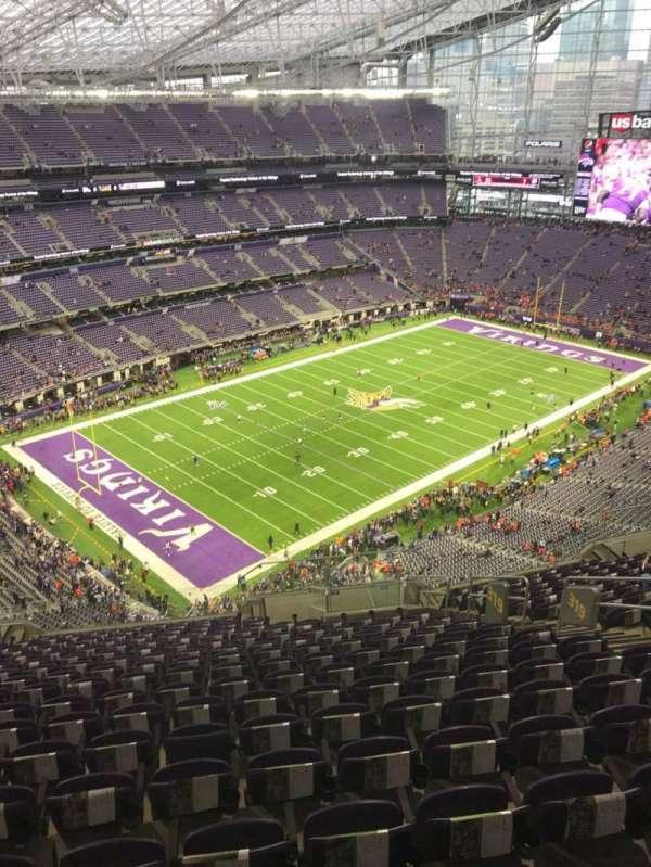 U.S. Bank Stadium, section: 319, row: 17, seat: 9