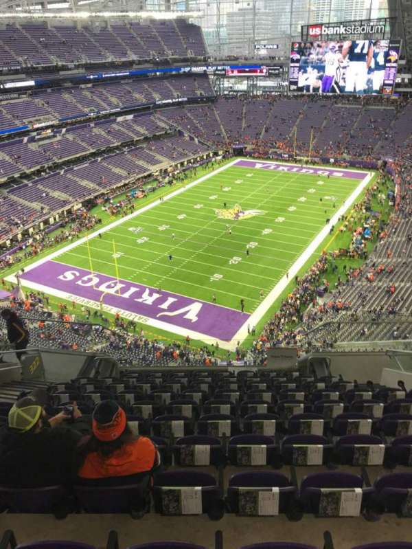 U.S. Bank Stadium, section: 322, row: 11, seat: 12