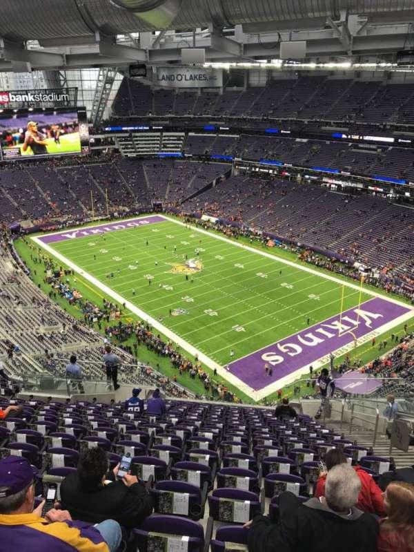 U.S. Bank Stadium, section: 333, row: 17, seat: 5