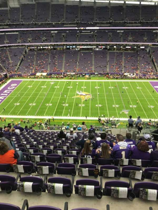 U.S. Bank Stadium, section: 341, row: 17, seat: 5