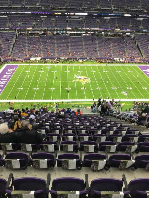 U.S. Bank Stadium, section: 342, row: 18, seat: 6