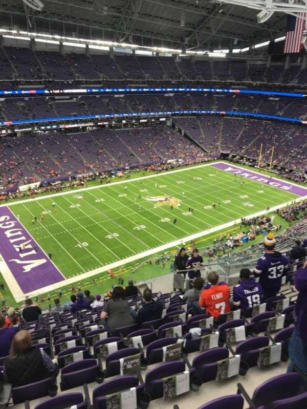 U.S. Bank Stadium, section: 346, row: 13, seat: 9