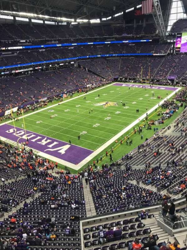 U.S. Bank Stadium, section: 350, row: A, seat: 15
