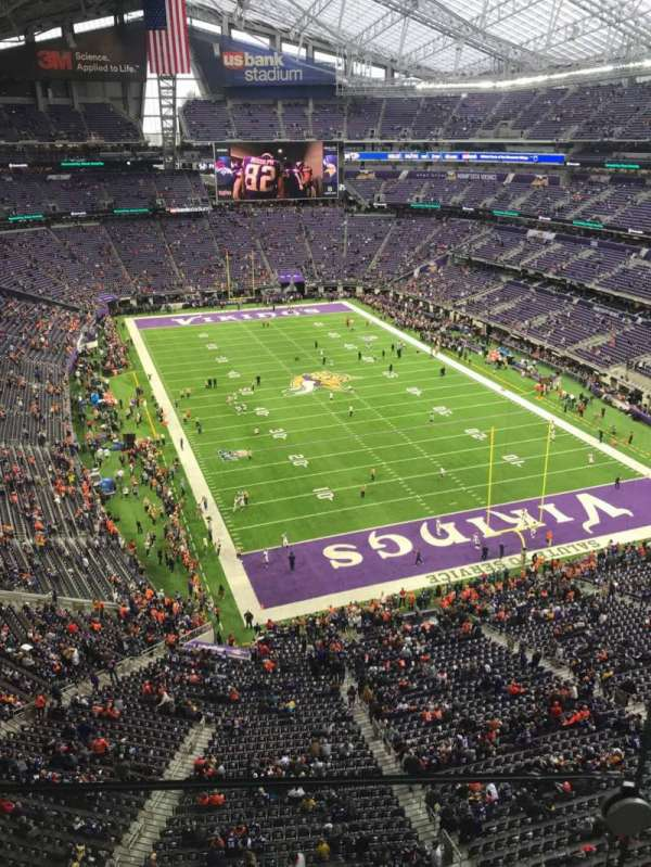 U.S. Bank Stadium, section: 301, row: 1, seat: 1