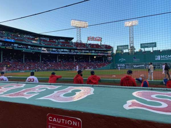 Fenway Park, section: Field Box 23, row: D, seat: 2