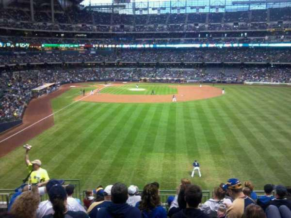 Miller Park, section: 203, row: 10, seat: 5