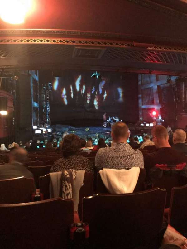 Dominion Theatre, section: Stalls, row: X, seat: 45