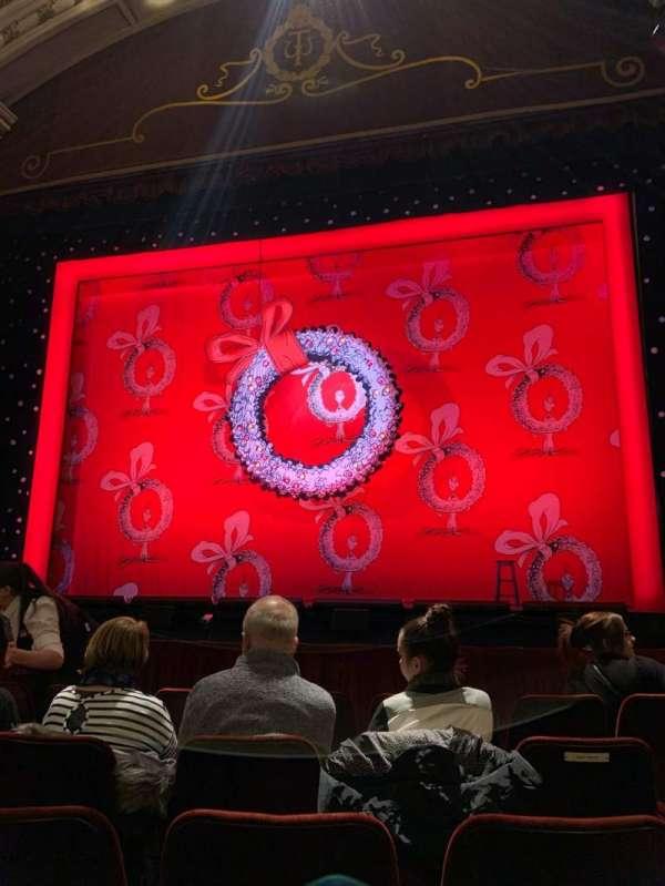 New Wimbledon Theatre, row: E, seat: 10
