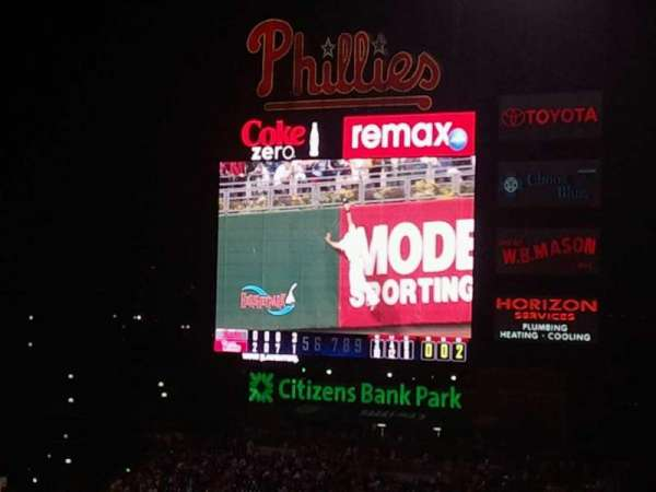 Citizens Bank Park, section: 307, row: 20, seat: 4