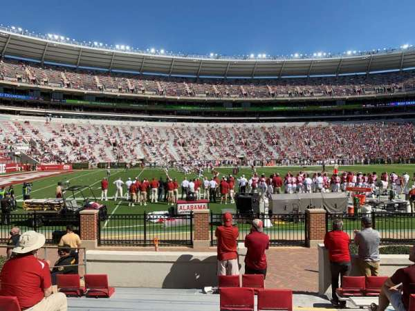 Bryant-Denny Stadium, section: K, row: 10, seat: 1