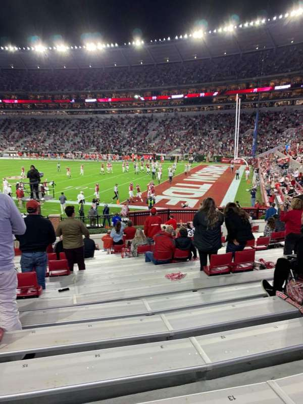 Bryant-Denny Stadium, section: A, row: 21, seat: 13