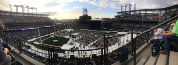 Coors Field, section: L321, row: 2, seat: 2