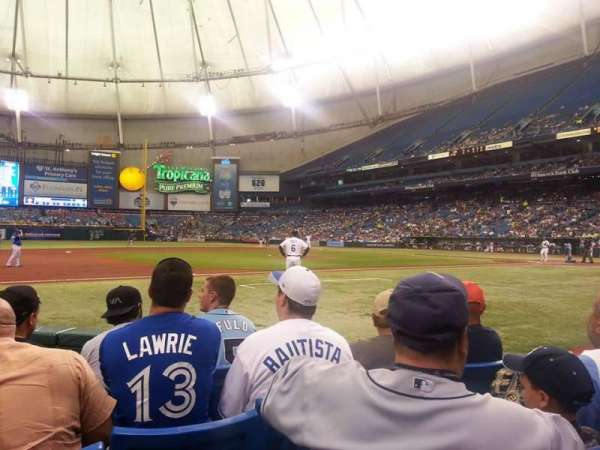 Tropicana Field, section: 119, row: G, seat: 7 and 8