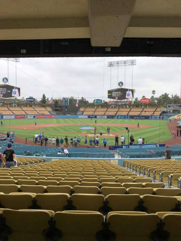 Dodger Stadium, section: 3FD, row: W, seat: 4