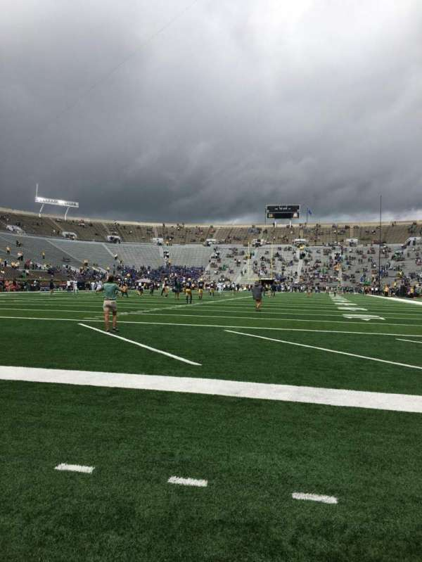 Notre Dame Stadium, section: F17, row: C, seat: 10