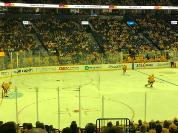 Bridgestone Arena, section: 103, row: E, seat: 1
