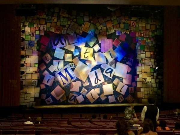 Ahmanson Theatre, section: Orchestra, row: Y, seat: 48