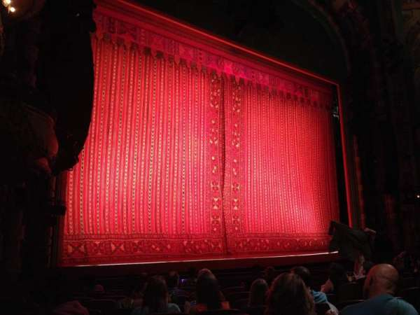 New Amsterdam Theatre, section: Orchestra L, row: L, seat: 19