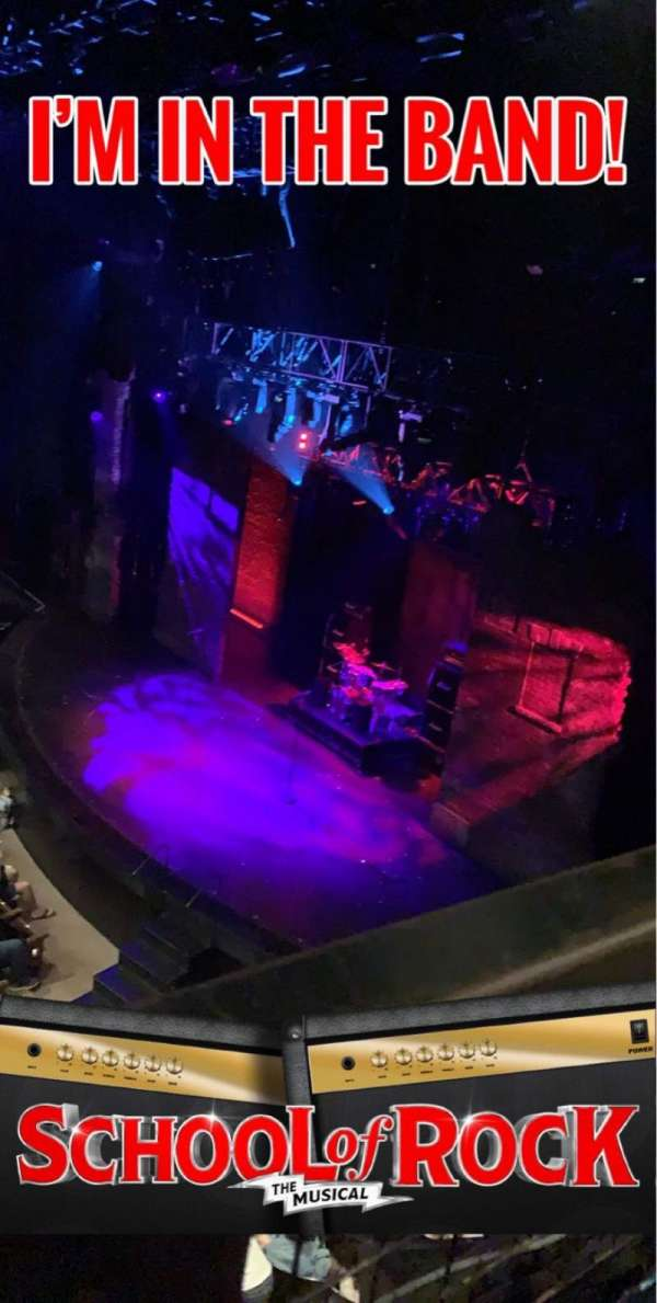 Gillian Lynne Theatre, section: Circle, row: A, seat: 8-9