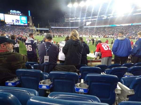 Gillette Stadium, section: 124, row: 5, seat: 8