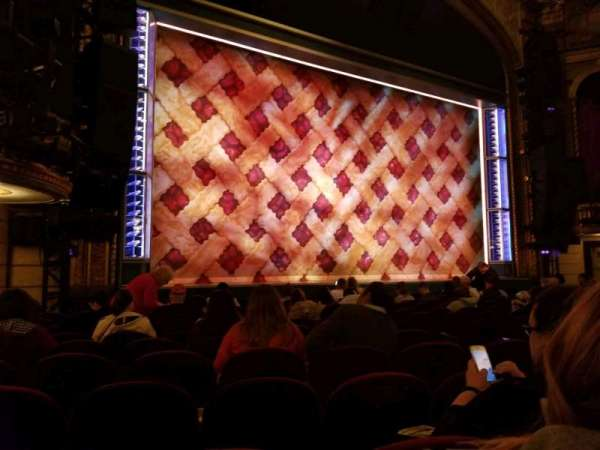 Brooks Atkinson Theatre, section: ORCH, row: K, seat: 13