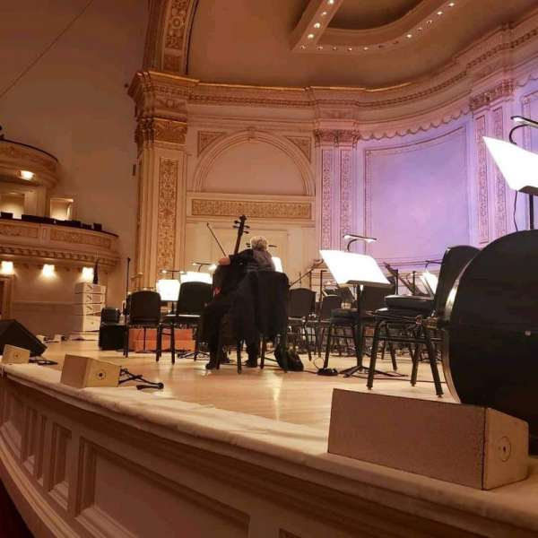 Carnegie Hall, section: Parquet R, row: A, seat: 18